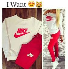 nike outfits. pants nike pink sweater red white shoes outfit shirt brand nikr leggings jumper bottoms outfits n
