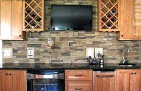 stone kitchen backsplash. Stone Kitchen Backsplash Beyond Mere Paint 7 Great Wall Ideas Stacked . V