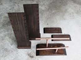 Wooden Necklace Display Stands Wooden Display Stand Set Industrial by Thebradfordedge on Zibbet 35