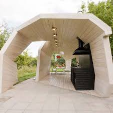 Contemporary Outdoor Kitchen Nanobuffetcom - Modern outdoor kitchens