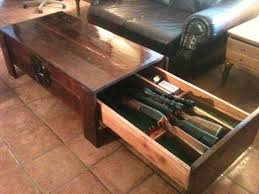 Hidden Drawer Lock Large Cedar Coffee Table With Hidden Drawer For Firearms Or Just