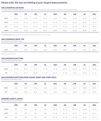 Leotard Size Chart Sizing Plum Practicewear
