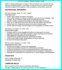 Clerical Resume Example Clerical Resume Sample Clerical Resume ...