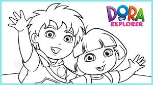 Small Picture Dora and Diego Coloring Book Dora The Explorer Coloring Game