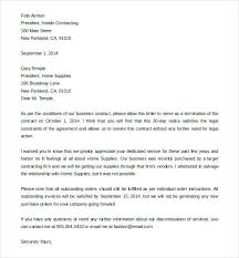 sample letter to terminate contract service termination letter sample download business service contract