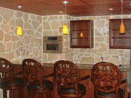 stone veneer kitchen wall