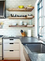 contemporary shelves kitchen