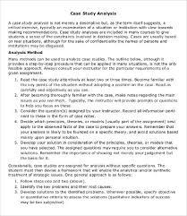 business case analysis business case analysis example sample business case analysis template 8 word pdf documents