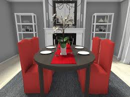 decorating your dining room. Christmas Decorating Ideas - Dining Room With Red Slipcovered Chairs And Table Runner Your