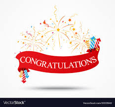 Congratulations Design Congratulations Design With Fireworks And Ribbon