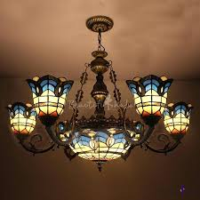 stained glass chandelier antique stained glass chandeliers for chandelier style bronze finished blue light center