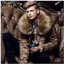 S/6Xl Mens Imitation <b>Fur</b> Jackets Long <b>Faux Mink Fur</b> Outwears ...