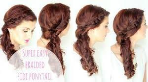 Plaiting Hair Style simple side braided hairstyle youtube 4542 by wearticles.com