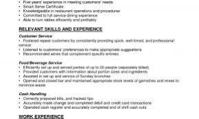 Resume Examples For Servers-Bartenders Elegant Server Resume Example ...