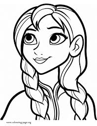 Small Picture Frozen Anna coloring page