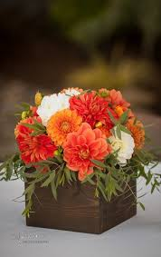 Orange wedding flowers. Orange Dahlias. Zest Floral and Event Design.  www.zestfloral