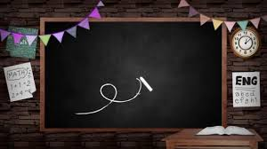School Chalkboard Background Animation Of Creative School Blackboard Background School