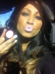 jerseylicious star tracy dimarco in her lipstick by yagolicious cosmetics on way to ing for the