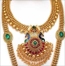 bridal gold jewellery sets peacock style pendant set