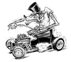 Small Picture Illustration SIN Customs Hot Rod Car Art Car Art Pinterest
