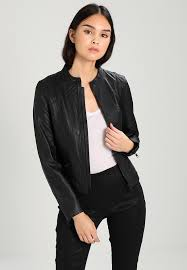 sfhannah leather jacket black