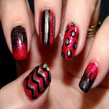 Red Black Silver Nail Designs Image collections - Nail Art and ...