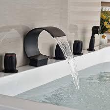 senlesen waterfall bathroom tub faucet brushed nickel 5pc