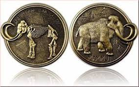 Woolly mammoth, gold coin