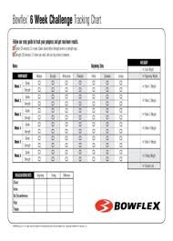 Pedometer Tracking Chart Bowflex Workout Chart Pdf We Can Help You Get The Best