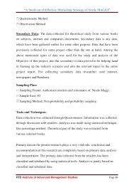 A Study On Of Effective Marketing Strategy Of Nestle Maggi