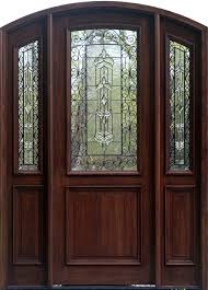 captivating beveled glass entry doors with mahogany material and frosted glass featuring fl pattern