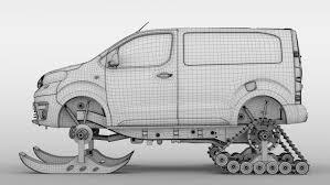 Toyota ProAce Van Ski 2018 3D Model in Concept 3DExport