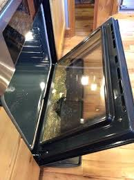 oven door glass during the process the inner middle glass shattered can one use the self oven door glass