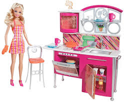 Barbie Kitchen Furniture Amazoncom Barbie Stovetop To Tabletop Deluxe Kitchen And Doll