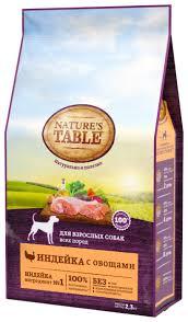 <b>Корм</b> для собак <b>Nature's Table</b> индейка с овощами 2.3 кг — купить ...
