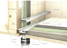 linear shower drain install how does linear shower drain work linear drain installation kerdi linear shower drain installation