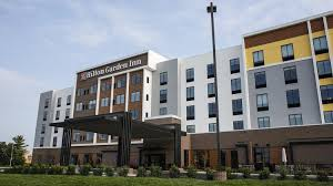 an exterior of the new hilton garden inn in st matthews
