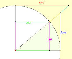best trigonometry ideas trig identities sheet angle in unit circle showing trig functions as lengths of line segments interactive