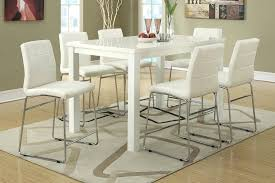 white counter height table. White Counter Height Table Set Modern High Gloss Dining W
