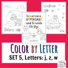 Our site offer printable pictures to you for your using pleasure. Free Printable Color By Letter Worksheets Set 5 Letters J Z W How Wee Learn
