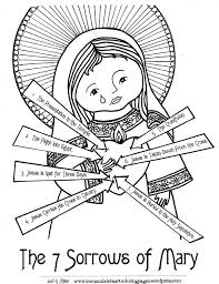 easy to color – Immaculate Heart Coloring Pages
