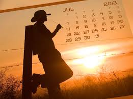 2013 Monthly Calendar Cowboy Sample - Brush, Psd, Eps | Premium ...