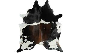 photograph of cowhide rug