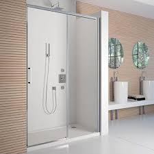 merlyn 8 series frameless sliding shower door 1200mm wide 8mm glass