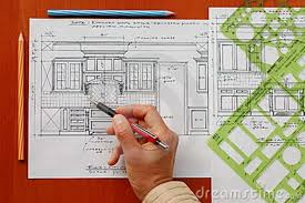 interior design kitchen drawings. Brilliant Interior Modern Interior Design Kitchen Drawings With  Designers Hand Pencil And New