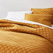 fontaine mustard yellow cotton quilt