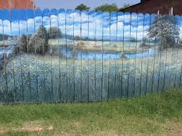 Painted Fences 10 ways to make your fence beautiful gardens backyard and 2847 by xevi.us