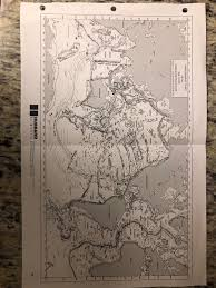 Hubbard Scientific Physiographic Chart Of The Seafloor On Your Map Legend You Will Use Red For Convergen