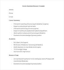 Doctor Resume Example Doctor Resume Template Medical Doctor Resume