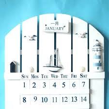 wooden perpetual wall calendar kit desk